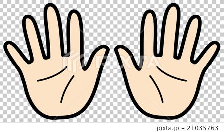 图库插图: 手 手掌 两只手