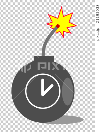 插图 姿势_表情_动作 表情 恐怖 炸弹 计时器 插图  *pixta限定素材仅