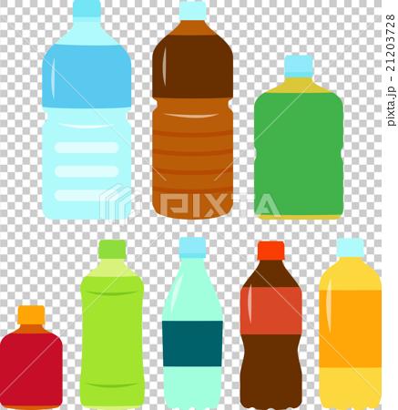 图库插图: 矢量 塑料瓶 饮料