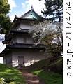 皇居東御苑 富士見櫓と桜