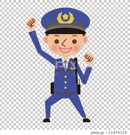 插图素材: 警察 男人 男