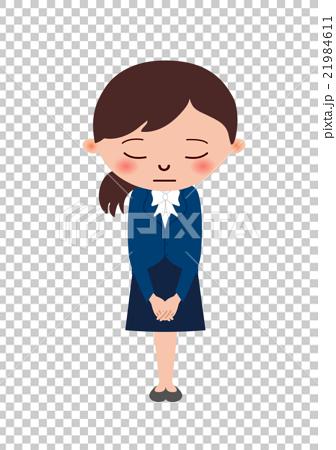 图库插图: 女人鞠躬图片
