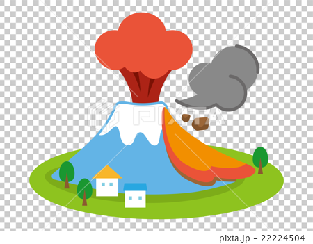 日本风景 山梨 富士山 插图 富士山 喷发 爆发 首页 插图 日本风景