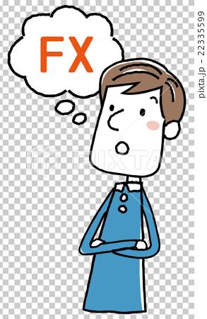 插图素材: 插图素材:年轻人fx思考