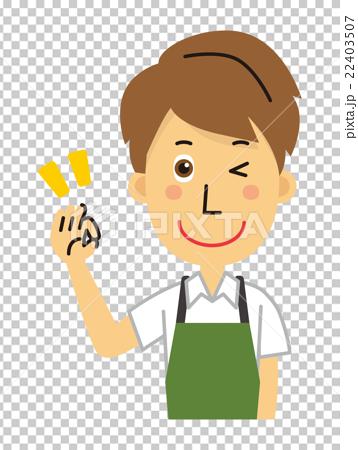 首页 插图 姿势_表情_动作 姿势 ok 店员 售货员 ok  *pixta限定素材