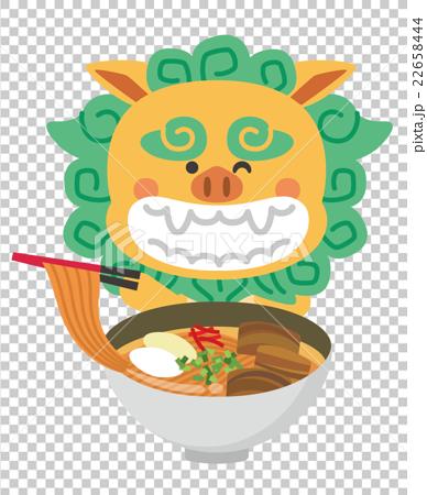 图库插图: 石狮子 冲绳面条 矢量