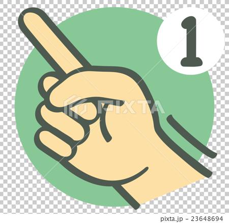 图库插图: 手势_手指字符_数字_ 1图片