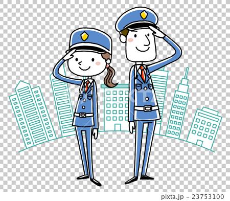 图库插图: 保安 矢量 敬礼