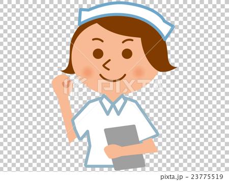图库插图: 矢量 护士 握拳