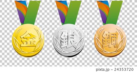 插图素材: 金银铜牌