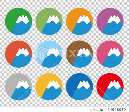 图库插图: 矢量 图标 富士山