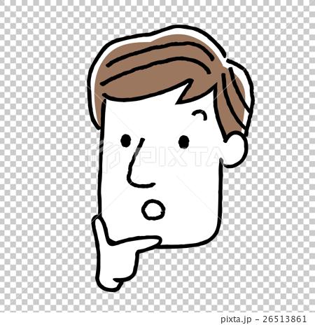 插图素材: 男,脸,面部表情:思考,同意