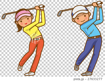 图库插图: 高尔夫 高尔夫球手 矢量