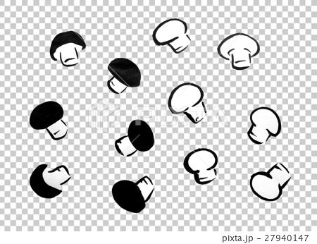 首页 插图 蔬菜_食品 蘑菇 蘑菇 蘑菇水墨画  *pixta限定素材仅在