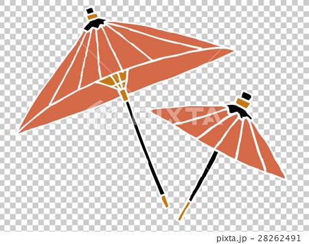 图库插图: 滑油纸伞 伞 矢量图
