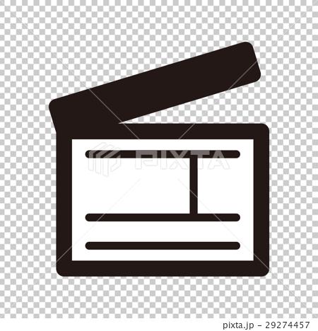 插图 背景_小物 小物 图标 场记板 隔板 图标  *pixta限定素材仅在