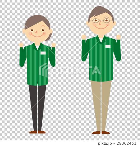 店员 首页 插图 人物 男女 老年人 便利店 老人 店员  *pixta限定素材