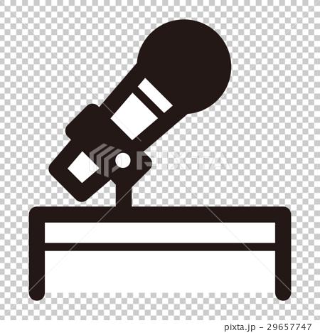 图库插图: 图标 麦克风 话筒