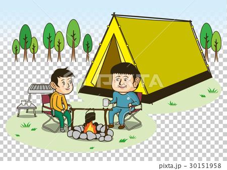 插图 休闲_爱好_游戏 户外 营地 营地 露营 野营地  *pixta限定素材仅