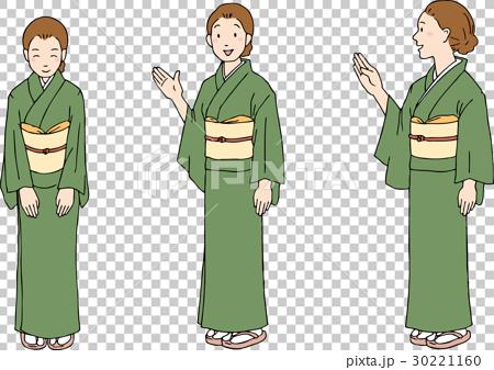 图库插图: 和服 人 人物