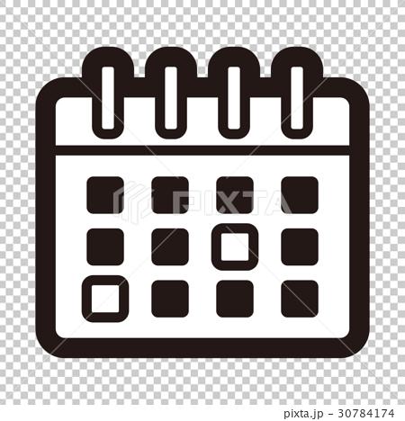 日历 月历 首页 插图 文具 纸 日历 图标 日历 月历  *pixta限定素材