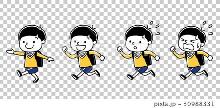 图库插图: 通勤上学 学校通勤 小学生