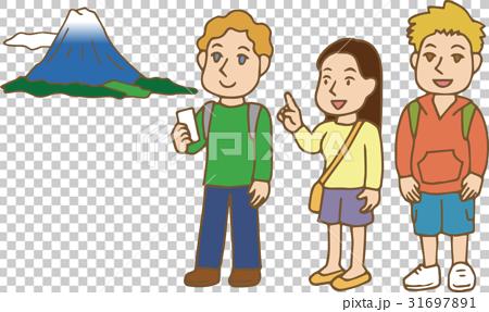 首页 插图 人物 男女 年轻人 白人 外国人 旅游业  *pixta限定素材仅