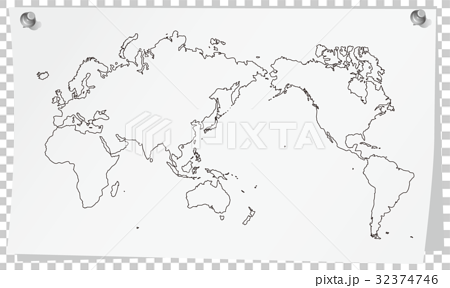 图库插图: 世界地图备忘录3