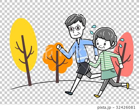 图库插图: 马拉松赛跑 慢跑 矢量