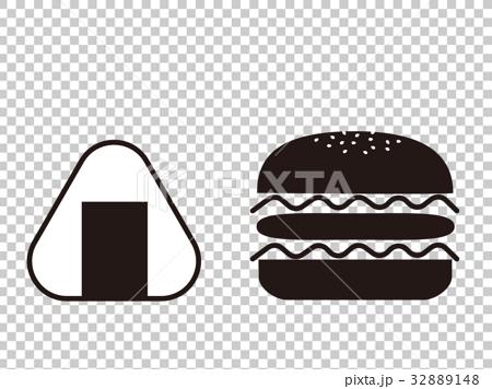 首页 插图 料理_食物 米饭类 饭团 单色 黑白 饭团  *pixta限定素材仅