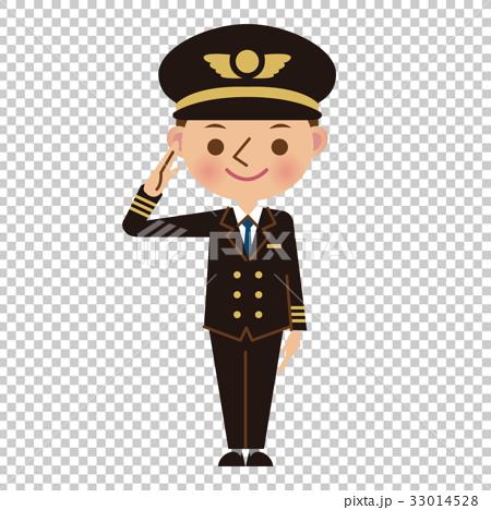 图库插图: 飞行员 敬礼 矢量