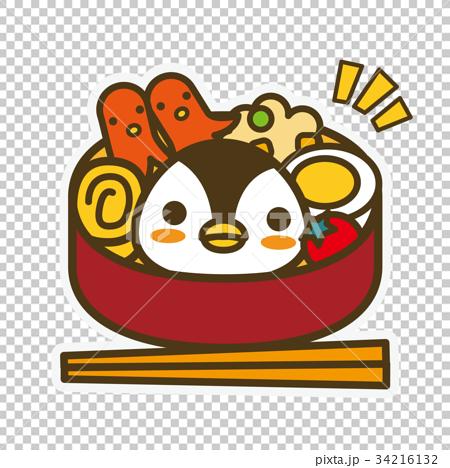 图库插图: 企鹅 便当 午餐盒