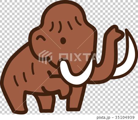 图库插图: 矢量 猛犸象 漂亮