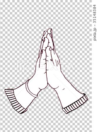 图库插图: 祈祷之手