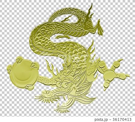图库插图: 龙 天空中的动物 生肖