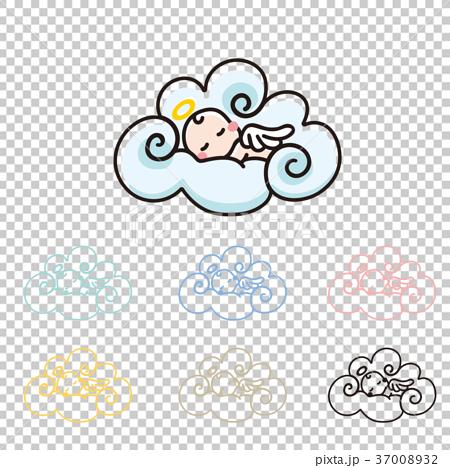 云彩 首页 插图 人物 儿童 婴儿 天使 卡通人物 云彩  *pixta限定素材