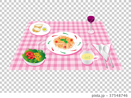 插图素材: 意大利午餐