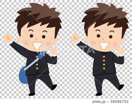 图库插图: 高中生 中学男生 男人
