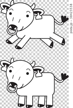 可爱卡通奶牛简笔画