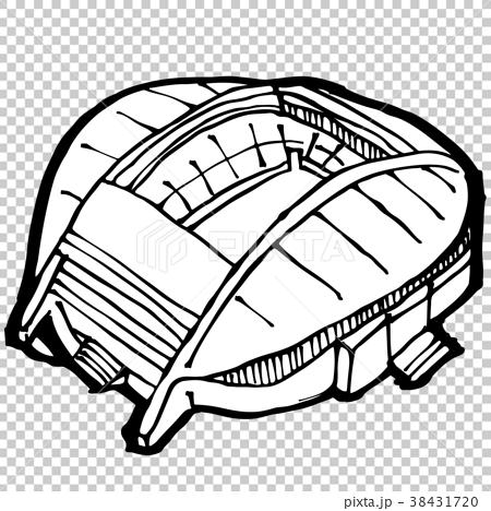 图库插图 体育场 单色 黑白