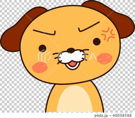 图库插图: 狗可爱看起来生气