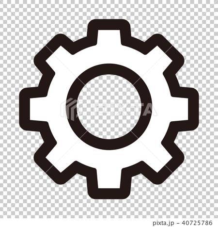 插图 背景_小物 小物 图标 图标 齿轮 钝齿轮  *pixta限定素材仅在pix