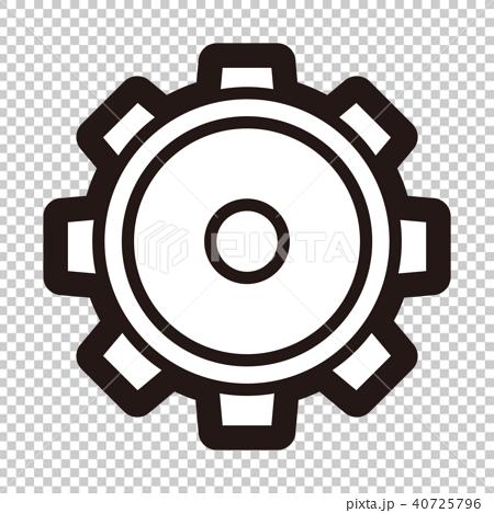 插图 背景_小物 小物 图标 图标 齿轮 钝齿轮  *pixta限定素材仅在