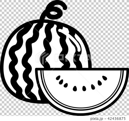 插图素材: 西瓜一球一件著色图片