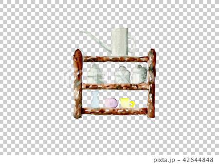 插图素材: 货架表手绘水彩图片
