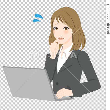 插图素材: 白领 ol 办公室女郎