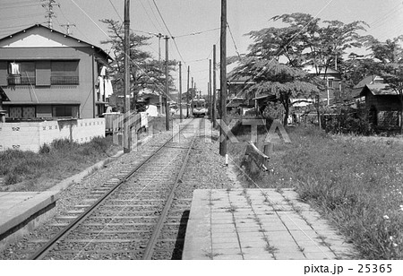 さよなら玉電・砧線、砧本村駅ホームより 昭和44年 25365