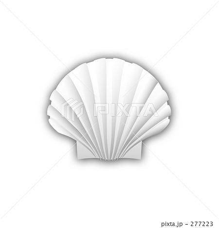 無料 魚 塗り絵 無料 : 白い貝 ほたて カイのイラスト ...