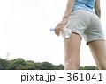 ランニング 若い女性 ジョギングの写真 361041
