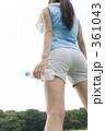 ランニング 若い女性 ジョギングの写真 361043